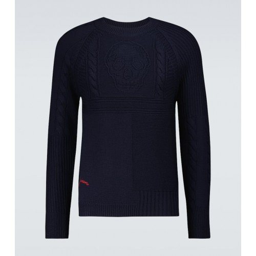 Boy Alexander McQueen - Skull cable knitted sweater HUXG33257
