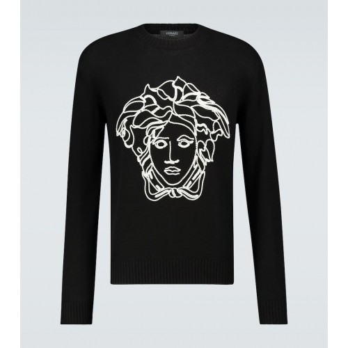 Boy Versace - Logo knitted sweater On Line CCH2Q8612