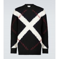 Boys Alexander McQueen - Wool and cashmere intarsia sweater 2RWH34502