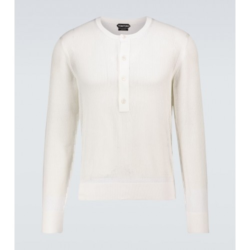 Boy's Tom Ford - Cotton and silk-blend sweater 3XL On Line NPKX47899