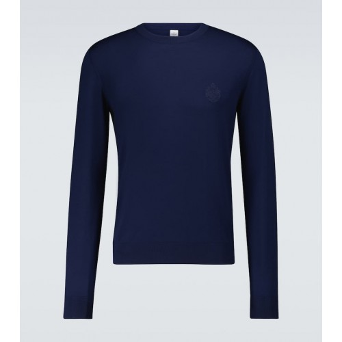 Men Berluti - Wool sweater with embroidered crest 13U866235
