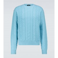 Men Versace - Cable knitted wool sweater 1920's Brand 1MH2J1238