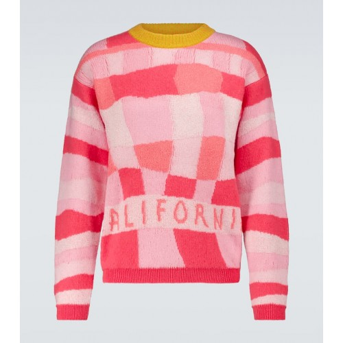 Mens ERL - California patchwork sweater 2XL L9UMG6516