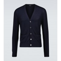 Young Men's Tom Ford - Cashmere and silk-blend cardigan 4XL Ships Free 09H2R8044