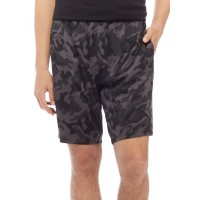 ZELOS Mens Active Shorts Camouflage Pull On Shorts Black Camo Yoga On Sale LWLT643