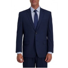 Haggar® Boy's Men's Stretch Houndstooth Classic Fit 2 Button Center Vent Suit Separate Coat NAVY 1940's Style FHON310