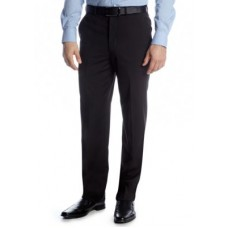 Adolfo Young Men's Portly Solid Suit Separate Pants Black DBVU867