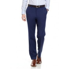 Crown & Ivy™ Young Men's Big & Tall Solid Blue Stretch Pants BLUE SIII333