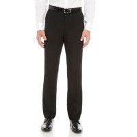 Dockers® Men Slim Fit Flat Front Performance Solid Trousers Black 70s Top Sale DOCE179