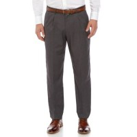 Dockers® Men's Dress Pants Straight Fit Pleated Performance Solid Trousers Charcoal UMXZ766