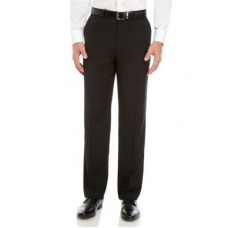 Dockers® Mens Pants Straight Fit Flat Front Performance Solid Trousers Black Golf EBXY886