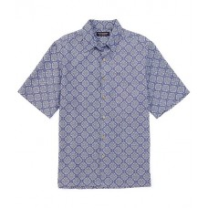 Roundtree & Yorke Short-Sleeve Medallion Printed Shirt Rich Blue Cool Trend XFXQEMP