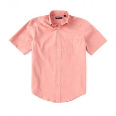 Roundtree & Yorke TravelSmart Short-Sleeve Solid End-on-End Sportshirt Coral Softest on sale near me GCGDQWW