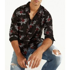 Guess Luxe Long-Sleeve Rayon Abbey Floral Shirt Floral RAFIIHB