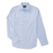 Murano Men Wardrobe Essentials Slim-Fit Solid Twill Long-Sleeve Woven Shirt Light Periwinkle BFFMPZF
