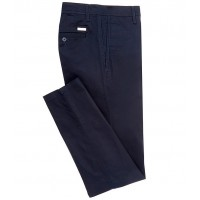 Armani Exchange Boys Straight-Fit Stretch Chino Pants Navy Regular Fit BOVNZED