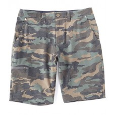 Flag and Anthem Mens Flag And Anthem MadeFlex Woodson Any-Wear Camo 10 Inseam Shorts Olive Volleyball VDDOPPS