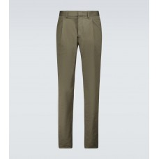 Mens Caruso - Stretch-cotton pants Running Discount 4FENA5359