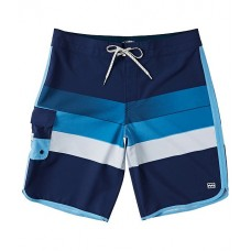 Billabong Men 73 Stripe Pro 20 Outseam Striped Recycler Recycled Materials Board Shorts Dark Navy WWROOPY
