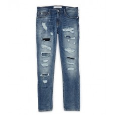Guess Young Men's Slim Taper Destroyed Jeans Midnight Vintage Wash LYNSBXK